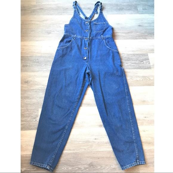84af5ee90372 Vintage LEE Denim Romper Overalls. M 5a9404029a94559fa811a246